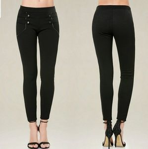 NWT Bebe Twilly Strapped Leggins D